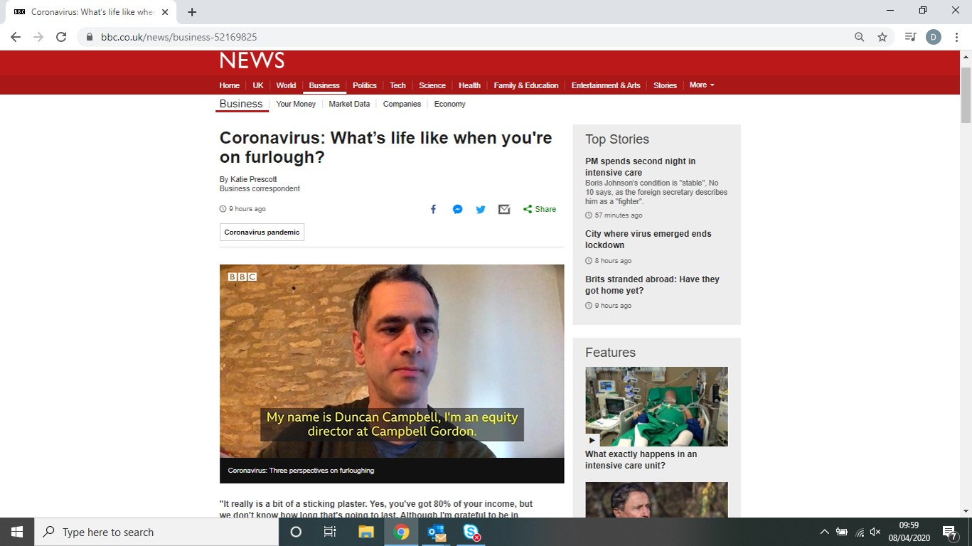 BBC News – Lobbying Government for more nuanced approach to Coronavirus policy for businesses